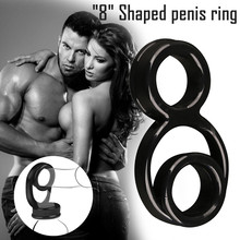 Couple Lover Sexy Play Games Dual Ring Men Male Soft Silicone Time Delay