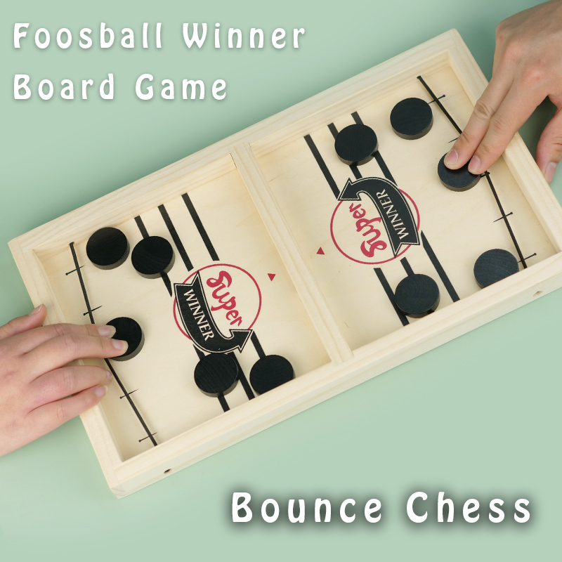 Chessboard Fast Sling Puck Foosball Winner Board Game Paced SlingPuck Winner Board Family Games Toys