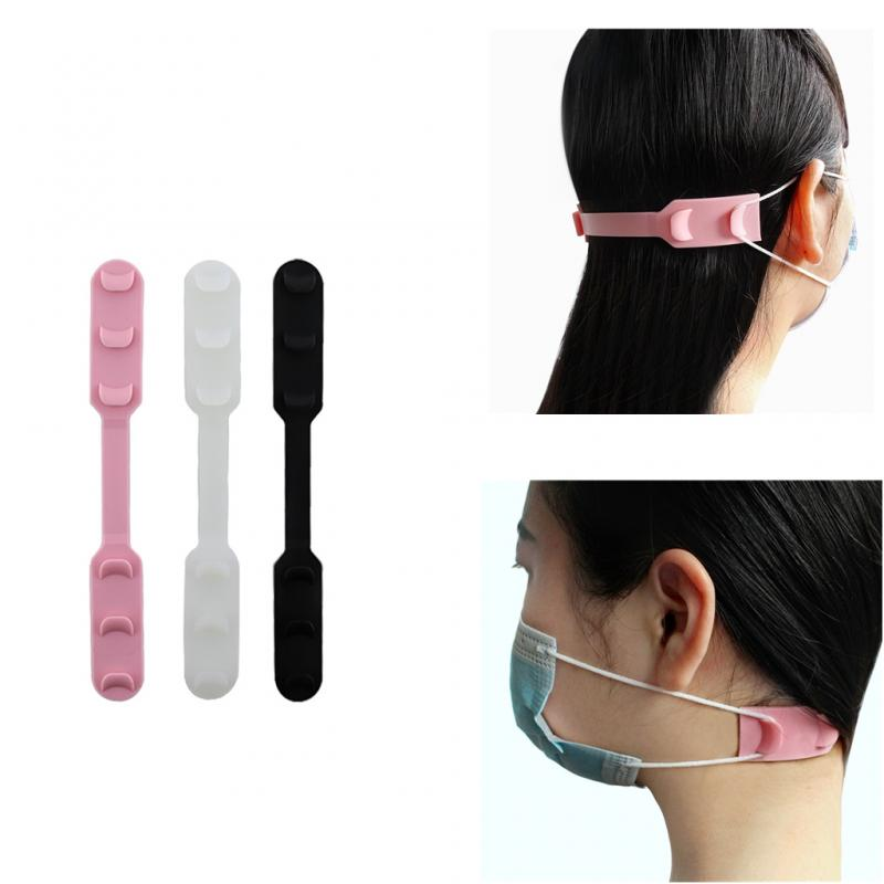3 Colors Ear Protector Silicone Bandage Kn95 Mask Accessories Extension Buckle Mask Artifact Anti-leak Ear Shield Buckle TSLM1