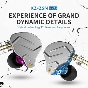 Image 2 - KZ ZSN PRO 1BA+1DD Hybrid technology HIFI Metal In Ear Earphones Bass Earbud Sport Noise Cancelling Headset ZSX ZSN PRO X ZSTX