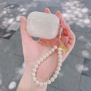 Image 3 - AirPods 2 luxury Pearl conch shell For AirPods PRO 3 cute case Keychain Pendant silicone Earphone Case Air Pods Fundas