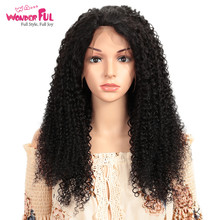 WA...WONDERFUL Kinky Curly 13X4 Lace Front Wig M Remy Human Hair Wigs Natural Color 8-28 Inch  WH LACE DIY CURLY