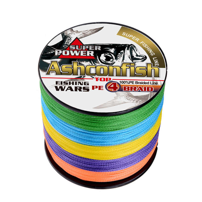 10 Colors 500M Multifilament Spectra 4 Strands Sea Testing Braided Fishing Line