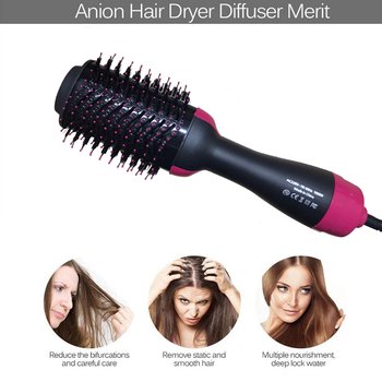New 2 IN 1 One Step Hair Dryer Hot Air Brush Hair Straightener Comb Curling Brush Hair Styling Tools Ion Blow Hair Dryer Brush 1