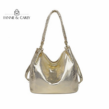 2020 Fashion New Gold Color Tote Bags Women Shoulder Leather Handbag Luxury Ladies Designer Crossbody Messenger Bag With Chain fasiqi local tyrants gold a bag of crocodile leather handbag with a handbag with a long zipper bag with gold gold