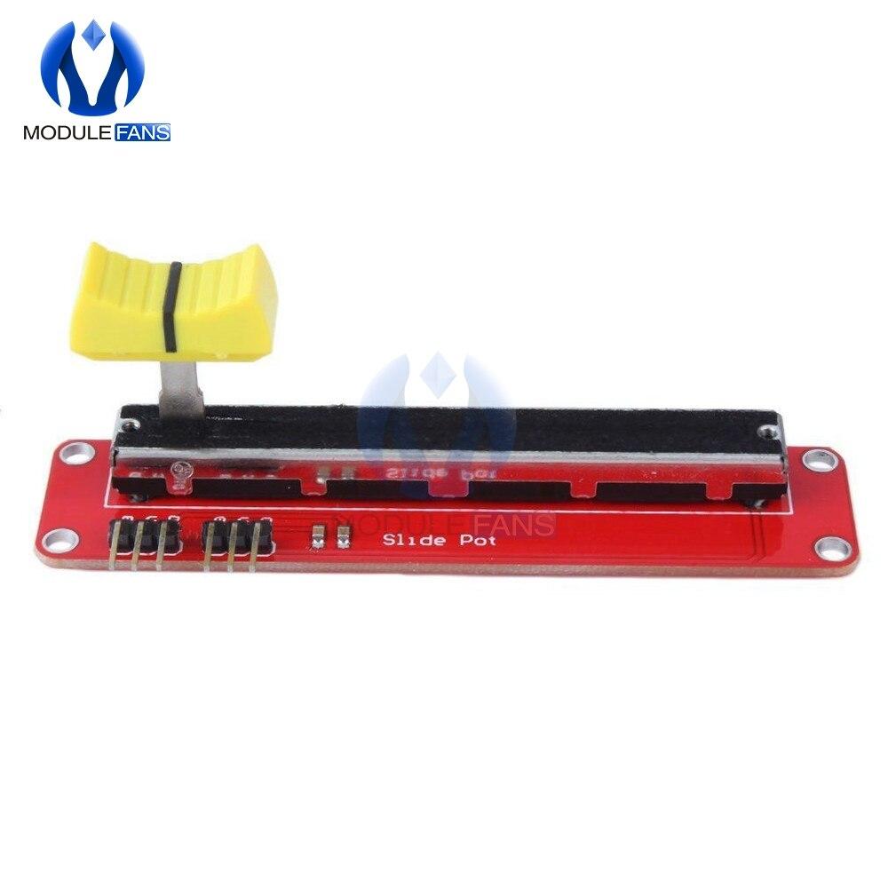 B10K раздвижной слайдер, переключатель потенциометра, модуль скользящего блока для электроники Arduino MCU ARM DIY