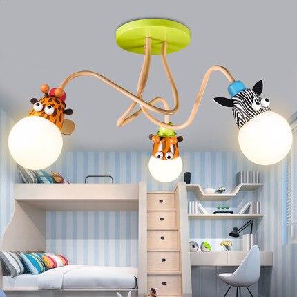 Детский Светильник в виде жирафа, милые лампы для детских комнат, детский потолочный светильник, декоративный светильник для детской комна