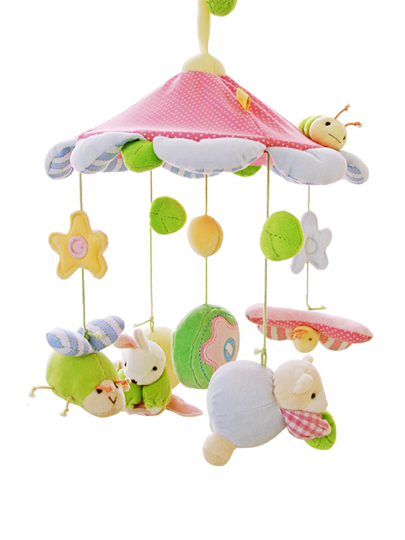 Baby Rattle Toys Musical Plastic Rattles 0-12 Months Bed Wind Bell Toy Giraffe Bear Elephant Mordedor Infant Toys Animal AA50YL