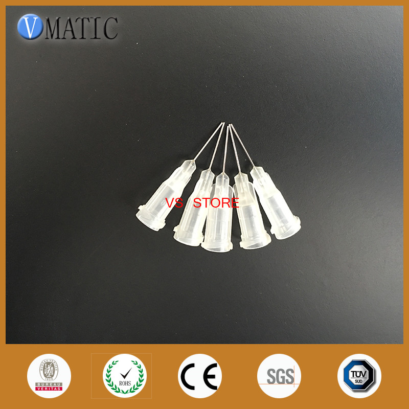 Free Shipping 0.5'' Tubing Length 100Pcs 27G Dispenser Syringe Needles Stainless Steel Needle 1/2 Inch