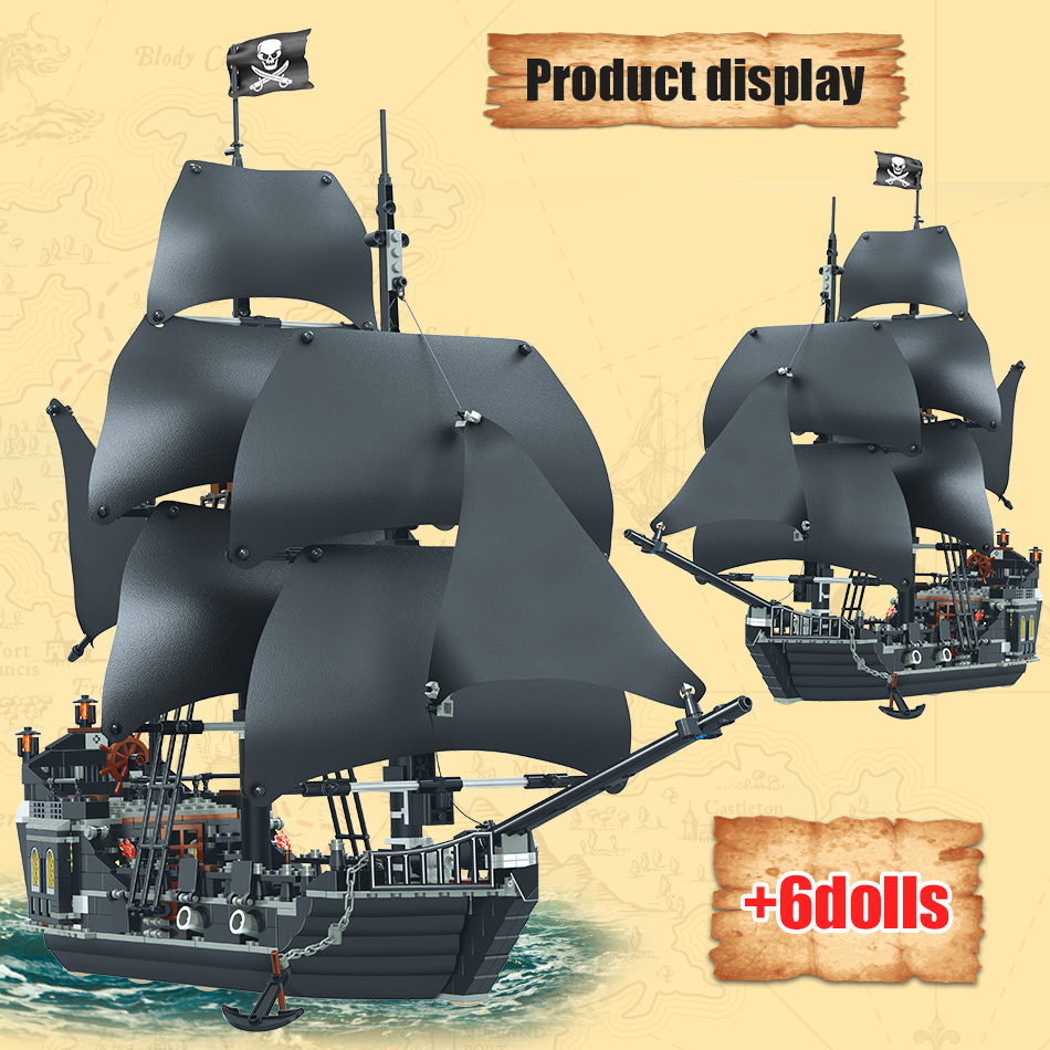 Pirates of the Caribbean The Black Pearl Ship 875pcs of bluilding blocks bricks
