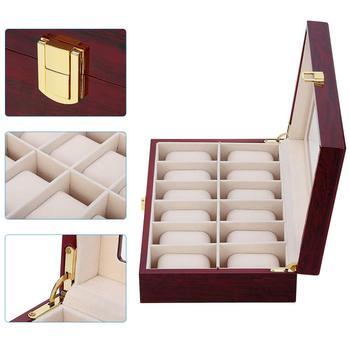 Новая роскошная деревянная коробка для часов, органайзер, держатель для часов, коробка для часов, мужские Стеклянные Коробки для ювелирных ...