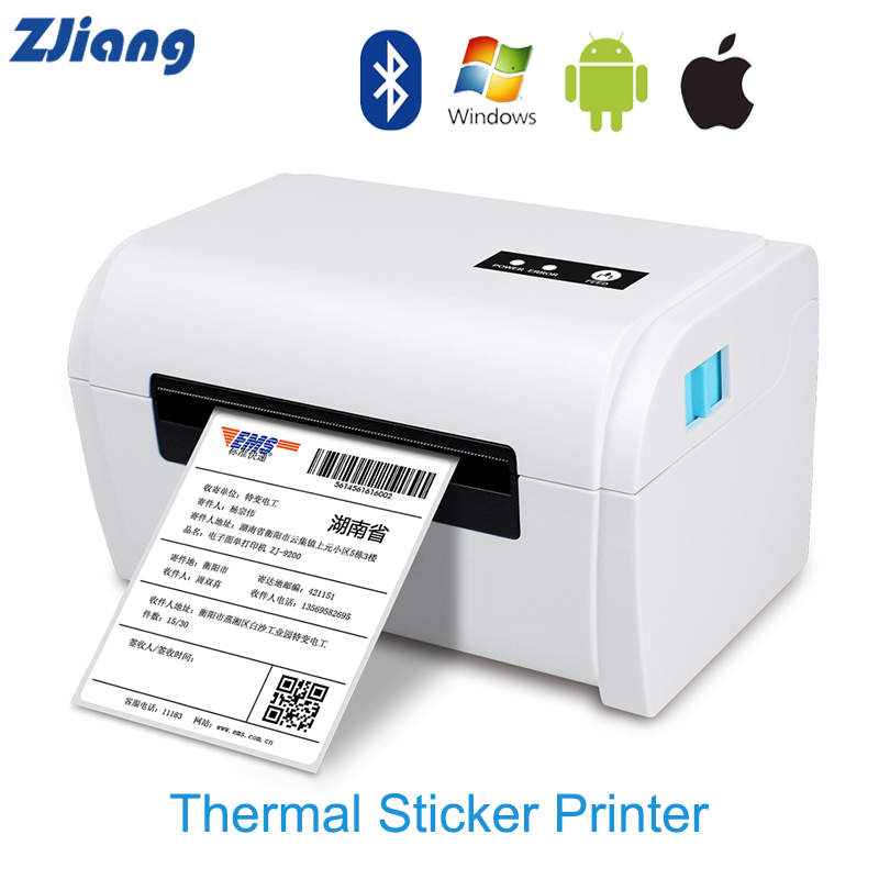 Naklejka termiczna drukarka drukarka etykiet Bluetooth maszyna do ekspresowego elektronicznego listu przewozowego półka odzież biżuteria druk etykiet USB