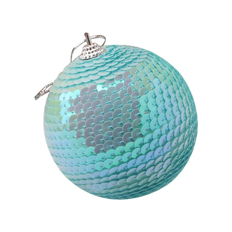Christmas Rhinestone Glitter Baubles Ball Xmas Tree Ornament Decoration 8CM kerstballen bombki choinkowe #3O11 (11)