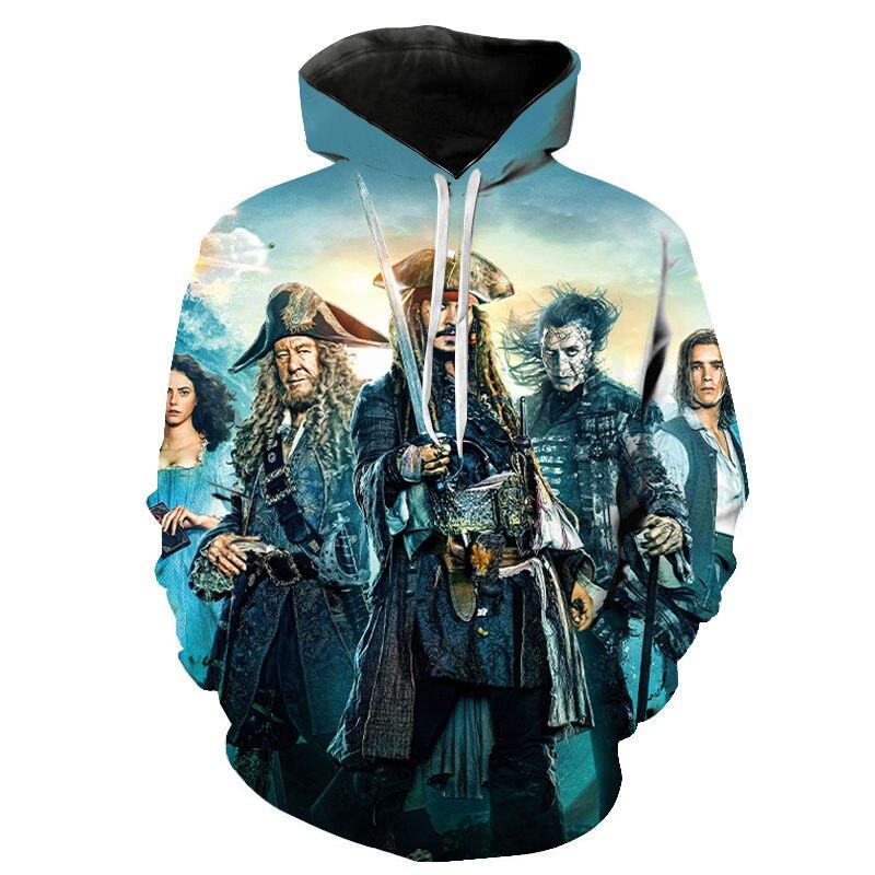 2020 New Style Fashion Hoodies Movies Pirates Of The Caribbean Print 3D Hoodie Men Women Children Sweatshirt Cool Hoody Pullover