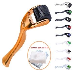 Image 1 - Titanium Micro Needle Therapy Derma Roller Skin Micro Needling Facial Exfoliating Tool Skin Exfoliator Face Massage Roller