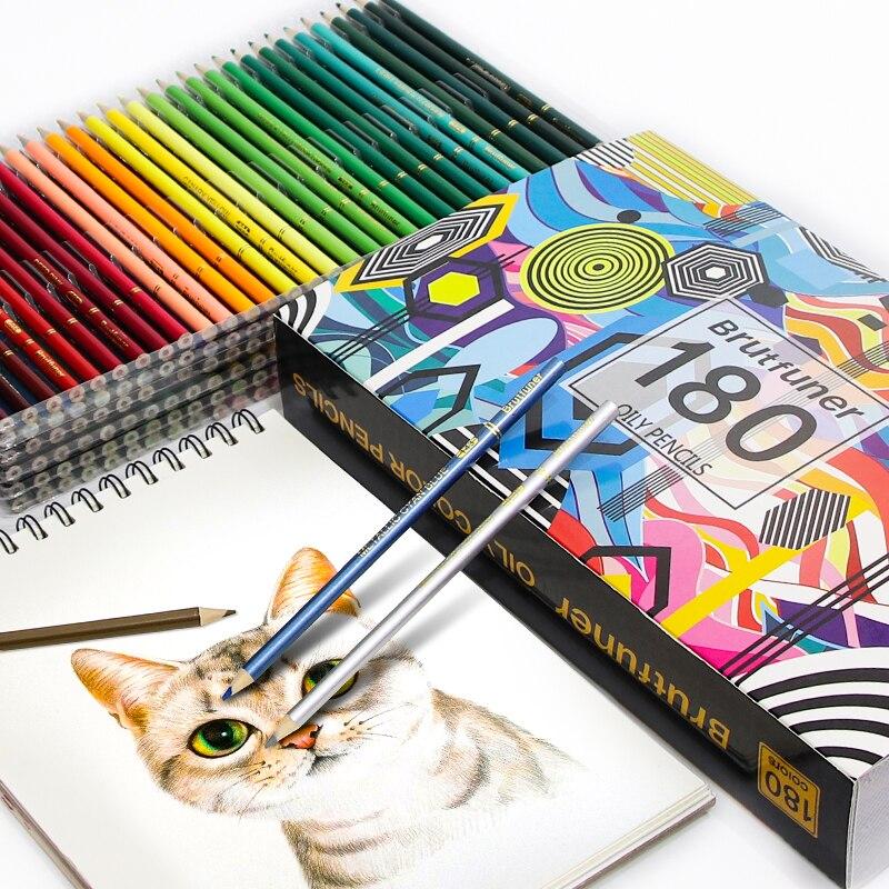 Farbe Bleistifte 48/72/120/150/160/180 Farben Professionelle Öl Holz Weiche Aquarell Bleistift für Schule Zeichnen Skizze Kunst Liefert