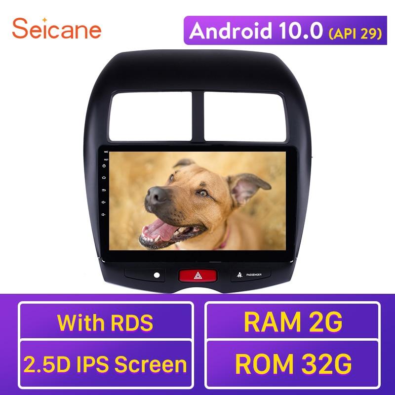 "Seicane 10.1"" Android 10.0 API 29 HD 1024*600 Car GPS multimedia Radio Navi player For 2010-2015 Mitsubishi ASX Peugeot 4008"