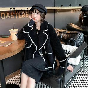 Женское пальто с искусственным мехом, Осень-зима 2020, Повседневная теплая меховая куртка, женское плюшевое пальто с карманами, зимнее пальто ...