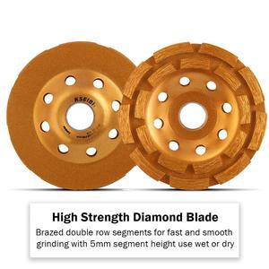 Image 5 - Kseibi 다이아몬드 그라인딩 휠 앵글 그라인더 휠 커팅 컵 휠 톱 블레이드 105/115/125/180mm 시멘트 콘크리트 타일 그라인더