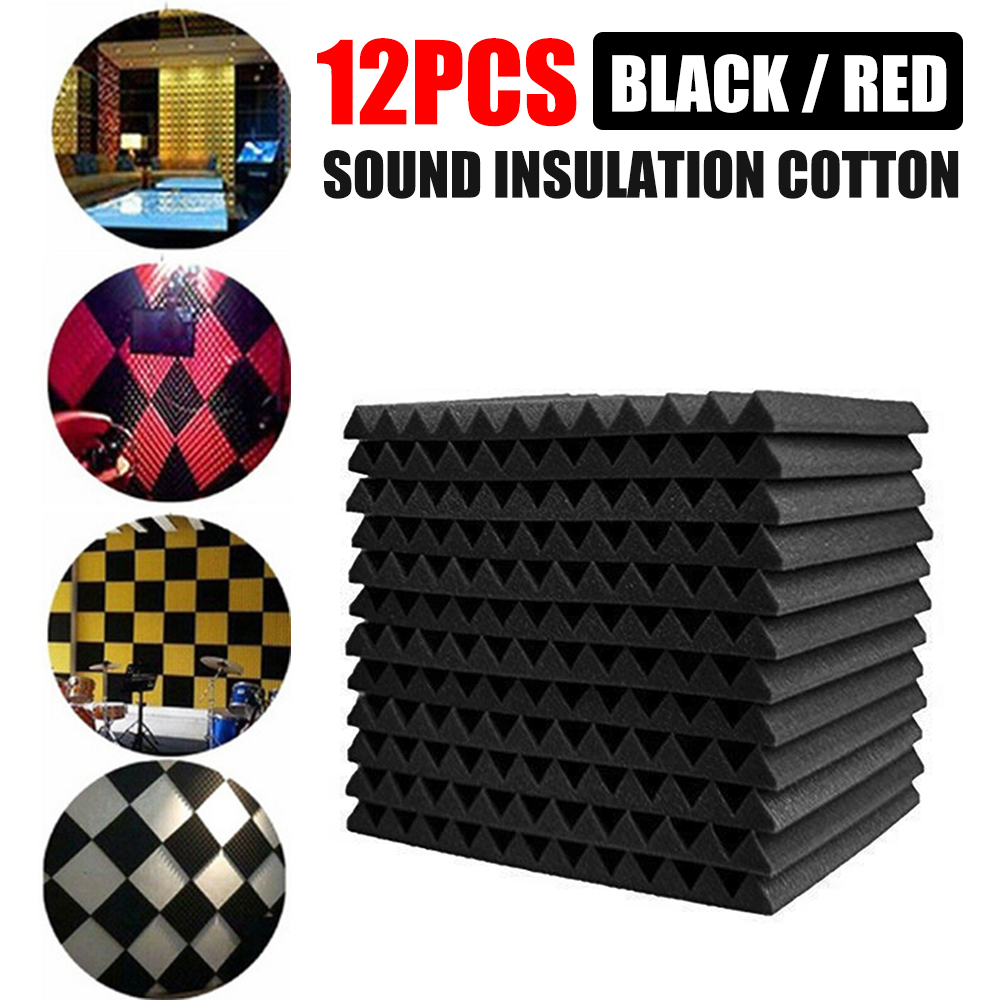 30 см волновые пиковые звукопоглощающие хлопковые звукоизоляционные пенопластовые панели, акустическая изоляция, шумопоглощающая губка для студийной фортепианной комнаты 12