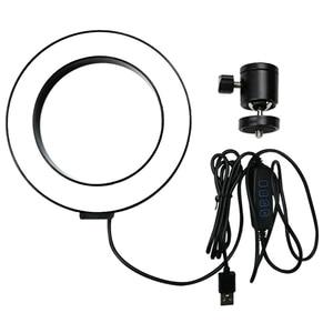 Image 4 - 調光対応 led selfie リングライト usb ランプ写真撮影の光と 1.6 メートル三脚用スタンドメイク youtube のビデオ電話スタジオランプ
