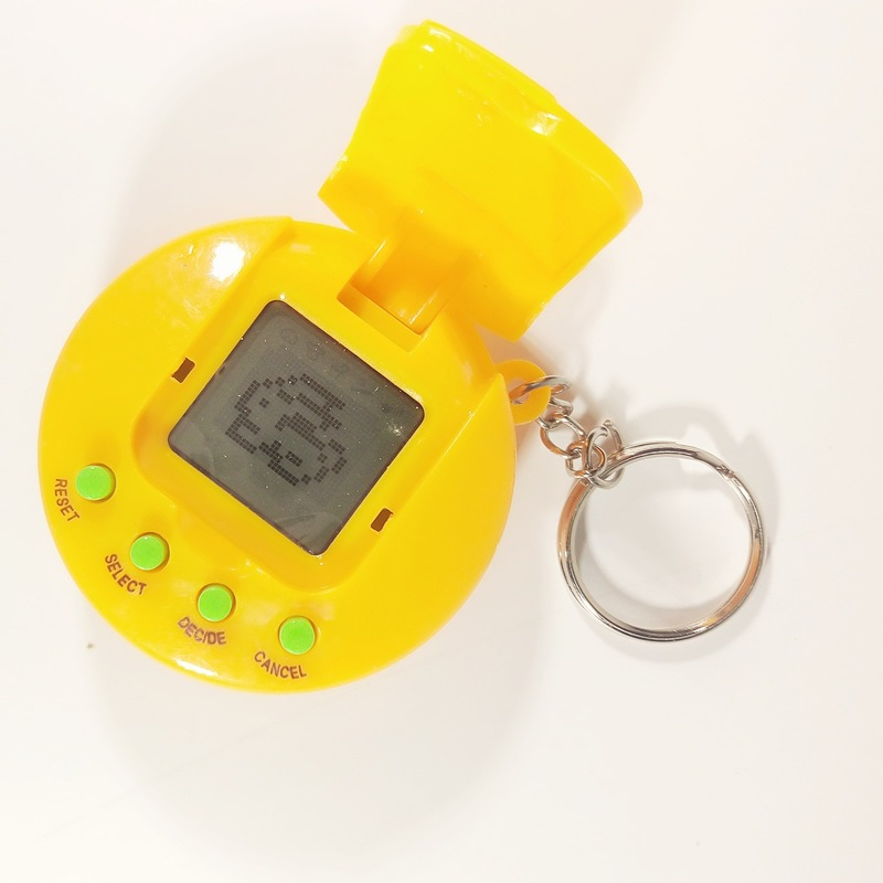 1PCs Mini Electronic Pets LCD Virtual Digital Pet Handheld Electronic Game Machine with Keychain 90S Nostalgic