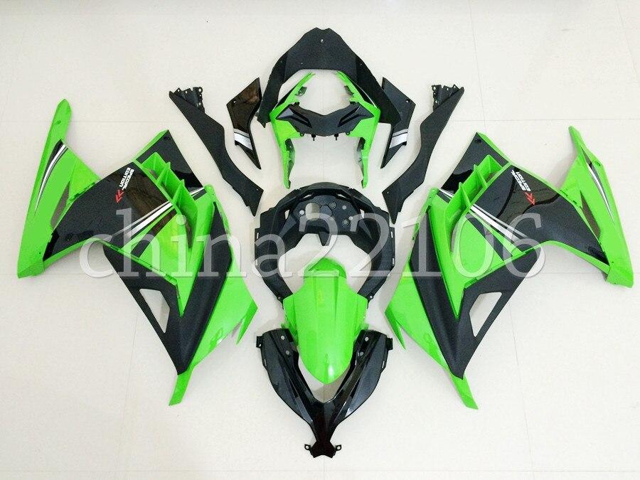 Molde de inyección nuevo Kit de carenados de motocicleta ABS apto para Kawasaki Ninja300 ZX300R EX300 300R 2013 2014 2015 2016 2017 verde caliente