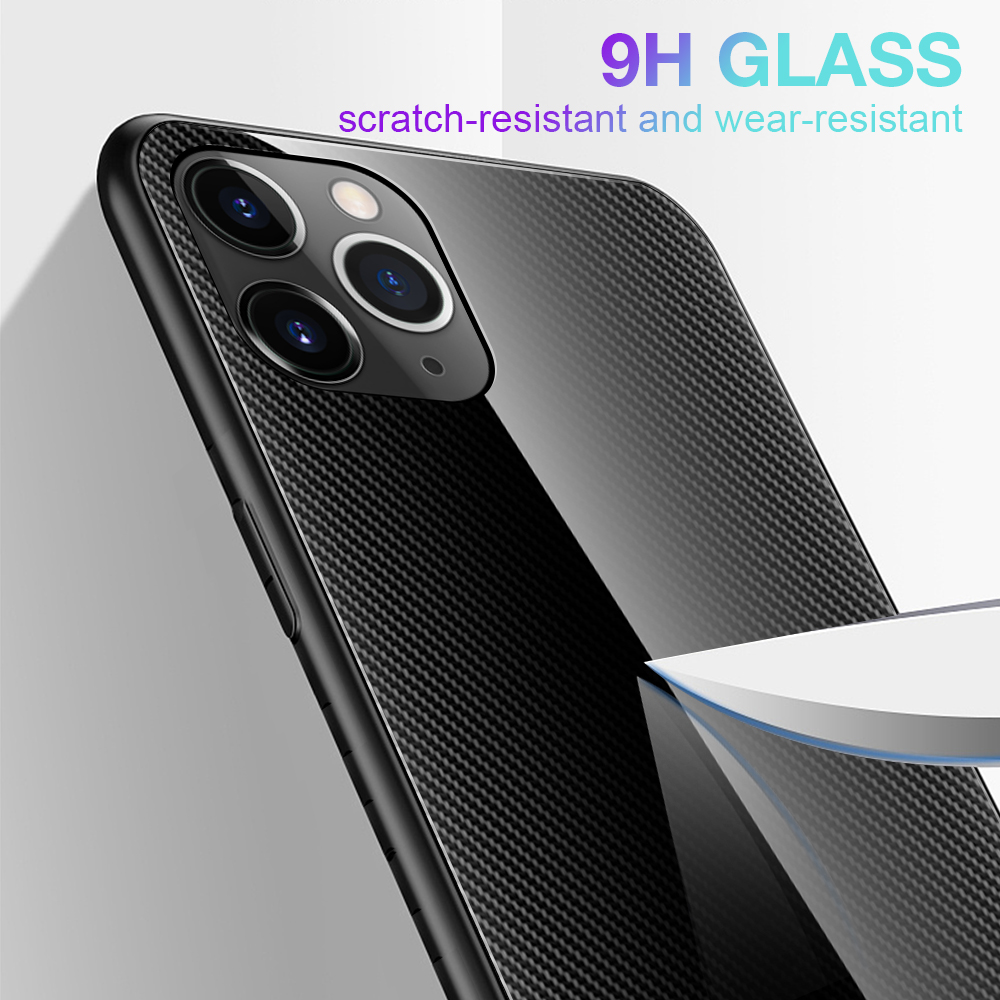 LECAYEE Super Tempered Glass Case for iPhone 11 Pro Max 7 6s 8 Plus XR Xs Max Coque Color Cover for iPhone XR X Xs MAX Cases (11)