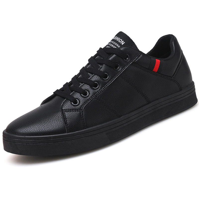 Brand Leather Men Casual Shoes Autumn Fashion Sneakers Footwear Soft Rubber Male Flats Shoe White Mens Shoes Sales Man Designer
