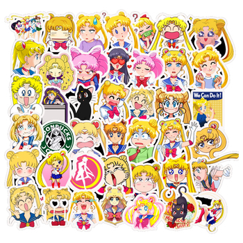 50Pcs Exquisite Self-made Guardian Sailor Moon Girl Decorative Sticker Decoration /waterproof Paper Stickers Sticker платье self made self made mp002xw1hpz9