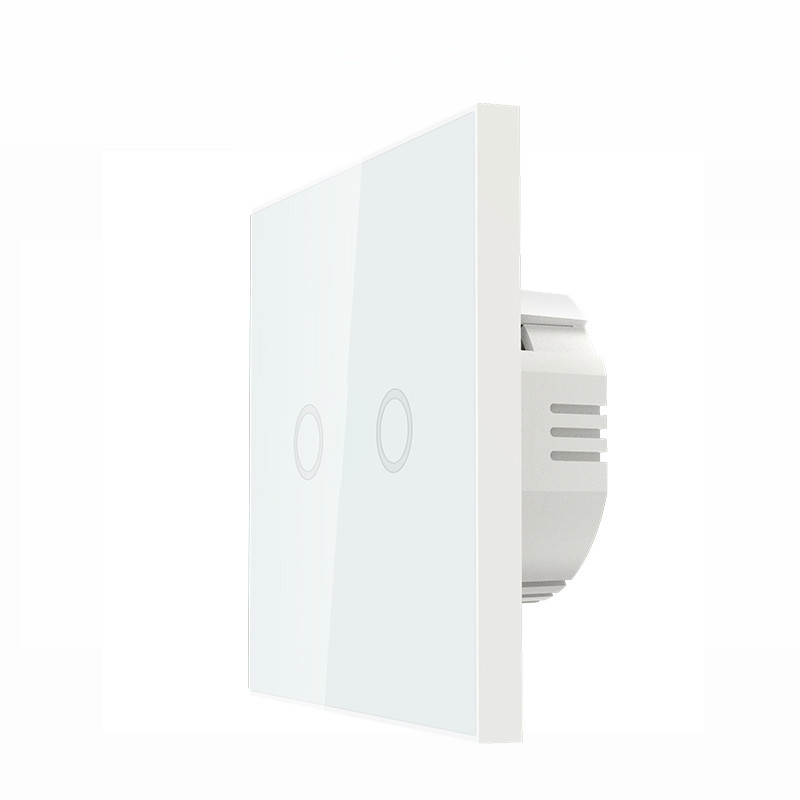 Z-wave Plus Wall Light Switch 2CH Gang Home Automation Z Wave Wireless Smart Remote Control Light Switch NAS-SC02ZE