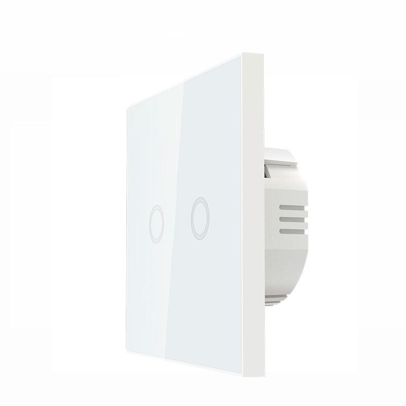 Z-wave Plus Wall Light Switch 2CH Gang Home Automation Z Wave Wireless Smart Remote Control Light Switch NAS-SC02ZE