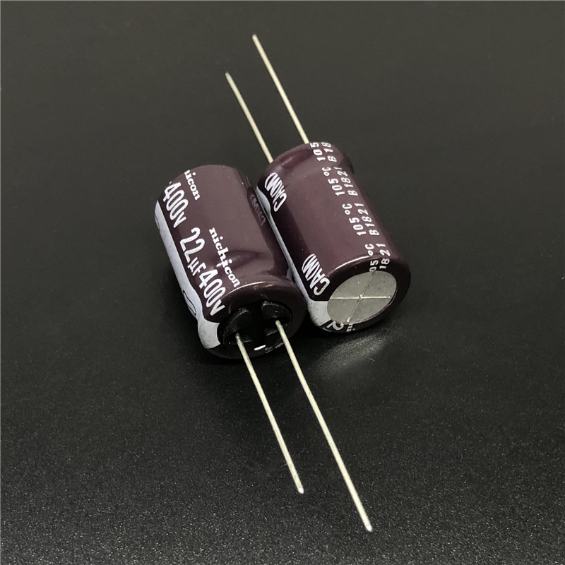 5pcs/50pcs 22uF 400V Japan NICHICON CA Series 13x20mm High Ripple Current Long Life 400V22uF Aluminum Electrolytic Capacitor