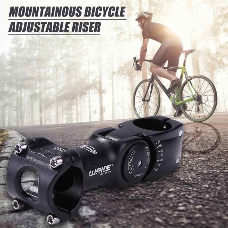 Sillage réglable 0-60 degrés vélo tige 90mm 110mm 31.8mm alliage d'aluminium guidon tige vtt montagne route vélo cyclisme pièces