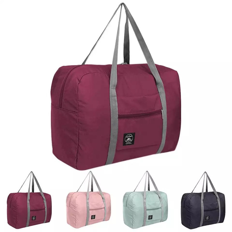 Large Capacity Nylon Travel Bags, Waterproof Folding Duffle Bag Organizer Packing Cubes, Clothing Storage Bag, Weekend Bags