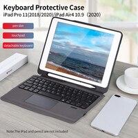 Funda protectora para teclado BT3.0, carcasa protectora desmontable para Teclado retroiluminado, para iPad Pro 11(2018/2020)
