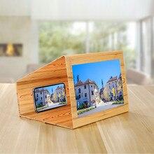 Телефон Деревянный 3D экран усилитель для iPhone xiaomi huawei складной HD видео 12 дюймов держатель с лупой стенд amplificar pantalla