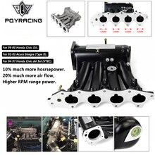 Pqy Voor B16a B16b B18a Aluminium Cast Inlaatspruitstuk Upgrade Bolt Op Voor 99 00 Honda Civic 92 01 Acura Integra PQY IM42 CA