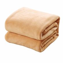 Comfortable Super Soft Keep Warm Flannel Blanket Large Size Solid Color Home Sofa Bedding Office Car Blanket Home Textile(China)