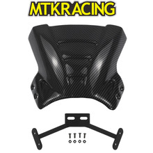 MTKRACING NEY CB650R motorcycle carbon fiber small windshield air curtain for HONDA CB 650R cb650 2019