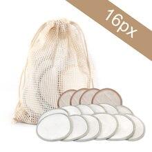 Tampons nettoyants lavables à trois couches, 5/10/20 pièces, tampons nettoyants pour le visage, en coton bambou, tampons démaquillants, réutilisables, outils de beauté