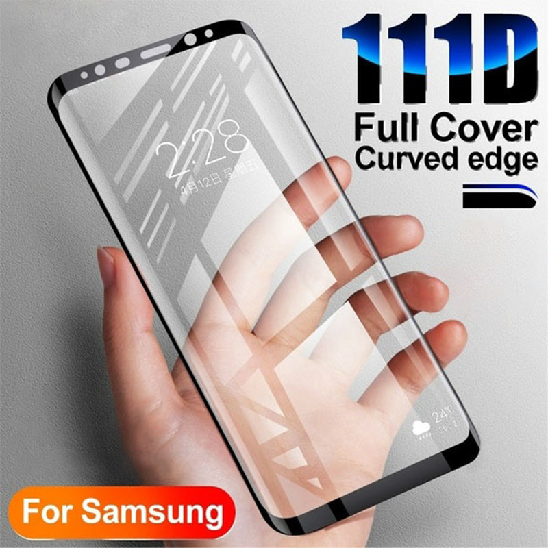 111D Tempered Glass For Samsung Galaxy S10 S9 S8 Plus S10e Screen Protector For Galaxy Note 8 9 10 Plus Glass Film