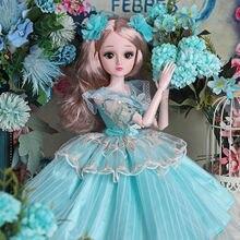 60 см, модные куклы, реалистичные, большие, оригинальные, ручная работа, Bjd 1/3 кукла, полный набор, 20 шарнирных кукол, для девочек, детские игруш...