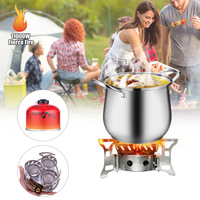 11000W High Power Camping Stove Fierce Fire Outdoor Windproof Three Core Head Camp Oven For Outdoor Family Picnic Cooking BBQ