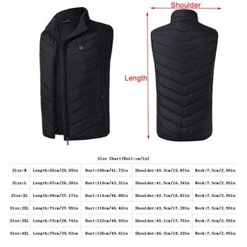 Drop ship 2020 Outdoor Men Electric Heated Vest USB Heating Vest Winter Thermal Camping Hiking Warm Hunting Jacket 2