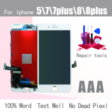 Black/White Assembly LCD Display Digitizer for iPhone 7 AAA Quality LCD Touch Screen for iPhone 7P 8 8 Plus 5 No Dead Pixel все цены