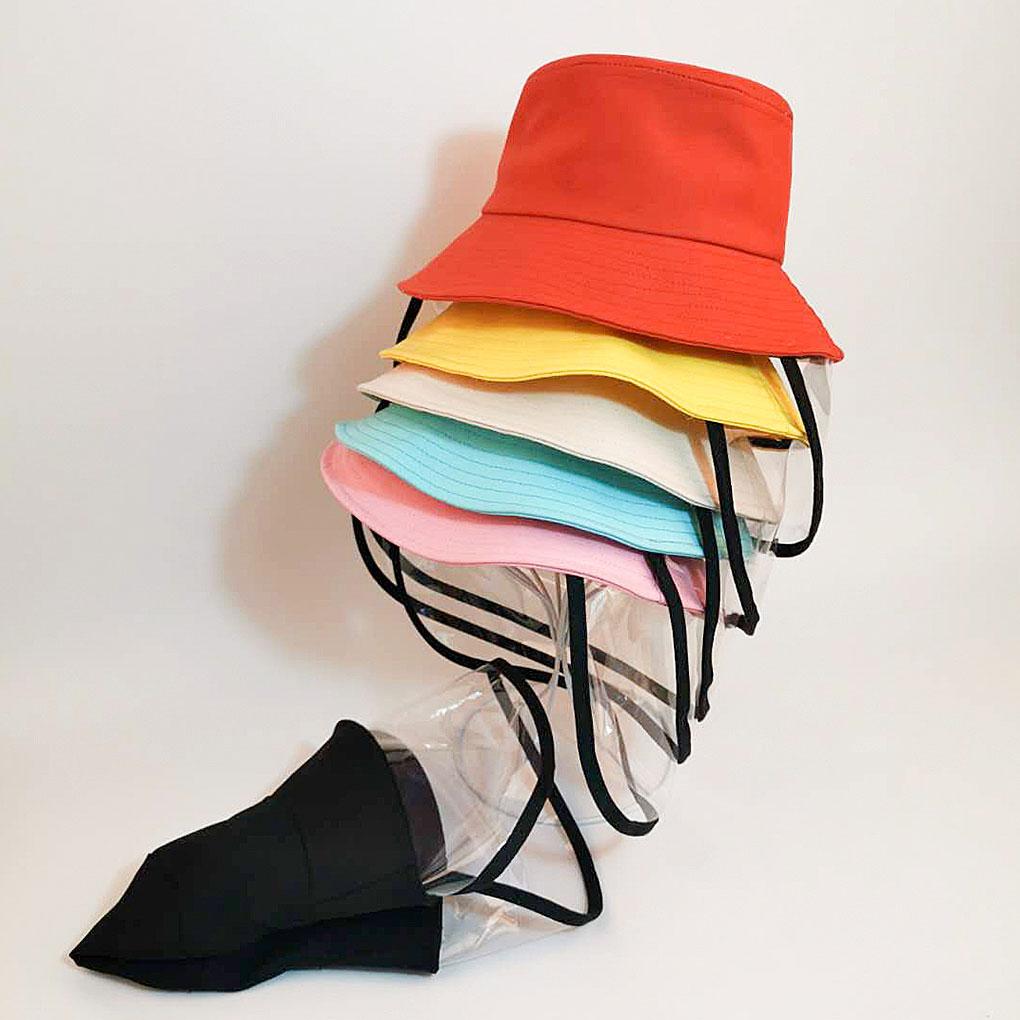 Kids Children Multifunctional Bucket Hat Detachable Full Face Cover Fisherman Cap Unisex Flat Polyester