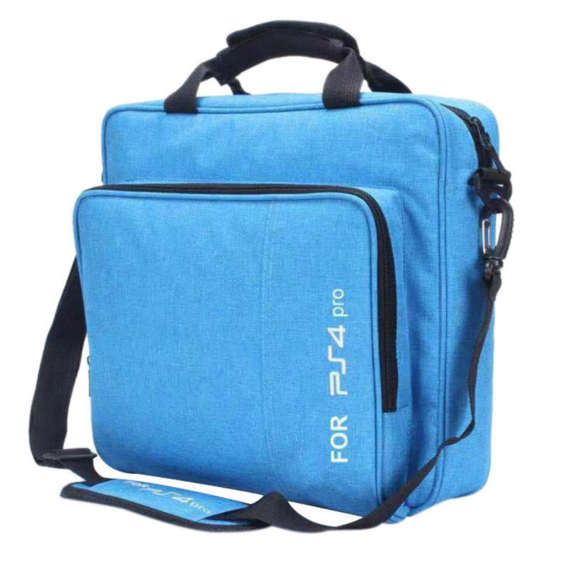 Waterproof Shockproof Carrying Case Bag Game System Protective Travel Case For Ps4 Pro System Accessories(Blue)