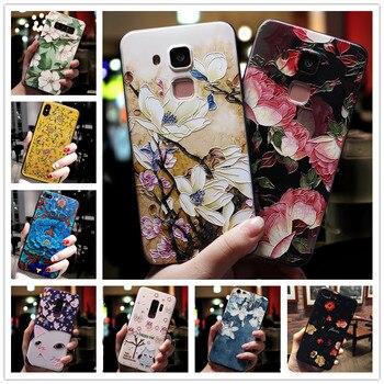 Силиконовый чехол для телефона huawei GR5 2016, мягкий чехол с 3D тиснеными цветами для huawei Honor 5X, Honor 5 X, KIW, KII L21
