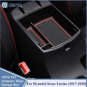 Image 5 - EDBETOS Kona schowek w podłokietniku dla Hyundai Kona Encino 2017 2018 2019 2020 Kona konsola środkowa pojemnik taca akcesoria